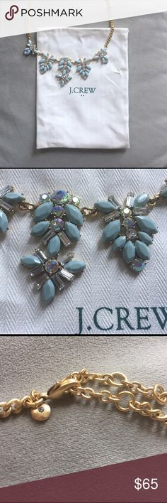 J. CREW NWT statement necklace J. Crew Ice blue statement necklace. Dress up or down.  Brand new. Never worn. NWT. J. Crew Jewelry Necklaces