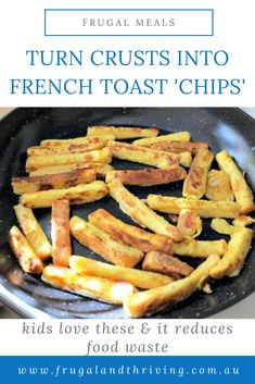 Kids don't eat their bread crusts? Turn them into crust chips! This easy, frugal idea reduces waste and saves money. Kids love them! #reducefoodwaste #frugalfeeds Frugal Recipes, Healthy Recipes On A Budget, Frugal Meals, Budget Meals, Healthy Snacks, Cheap Dinners, Crusts, Dinner Recipes, Chips