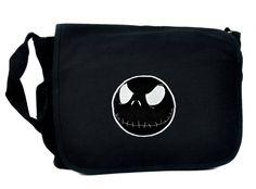 Negative Jack Skellington School Messenger Bag Nightmare Before Christmas