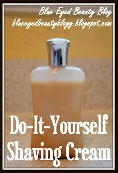 Blue Eyed Beauty Blog: DIY Shaving Cream