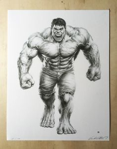 Image of Incredible by Mike Choi unframed Hulk Avengers, Hulk Marvel, Marvel Art, Marvel Comics Superheroes, Marvel Heroes, Marvel Characters, Comic Books Art, Comic Art, Hulk Tattoo