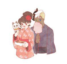 kimboris:  Bee and Puppycat with Deckard ~!!Japan clothes Kimono~!My twitter >https://twitter.com/_KimBoris