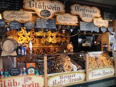 Pictured Festival Booth, Spiced Wine and Pretzels, Gluhwein und Bretzn, with many other great German food pictures - Oh how I miss Germany at Christmas!