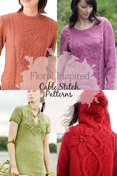 Inspiration,stitch patterns and free patterns available