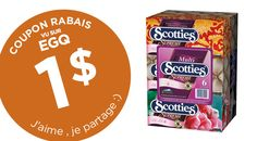 COUPON RABAIS MOUCHOIRS SCOOTIES DE 1$