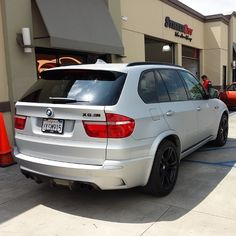 Your input on this BMW X5M wrapped in Avery matte silver x5m - http://www.stickercity.com/sc-vehicle-wraps/your-input-on-this-bmw-x5m-wrapped-in-avery-matte-silver-x5m