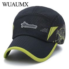 b3f24a204f12d Wuaumx 2018 Summer Female Hat Baseball Caps For Men Women Tennis Mesh Cap  Breathable Trucker Cap