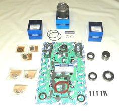 "Chrysler//Force 40 50 70 90 120 150 HP Outboard .040 Piston Kit 3.375/"" SportJet"