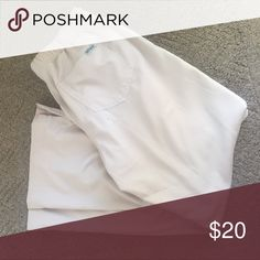 NWOT - Greys Anatomy Scrub Pants New and never worn - petite medium scrub bottoms. Khaki color. Elastic back and drawstring front. Pants