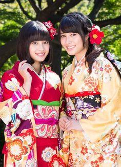 """carudamon119: """" 広瀬アリスと広瀬すずが美しすぎる晴れ着姿を公開! """""""