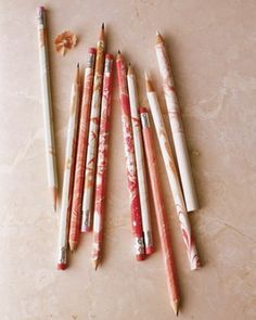 Marbleized Pencils