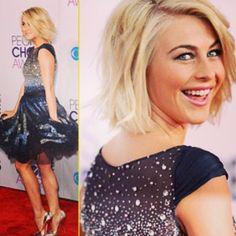 Did anyone see Juilanne Hough's cute choppy #bob at the People's Choice awards? #hair #shorthair #blonde