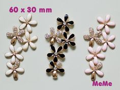 1 Piece Luxury Alloy Flowers Kawaii Accessories Charm Cabochon Deco Den on Craft Phone Case DIY Deco kit AA1363