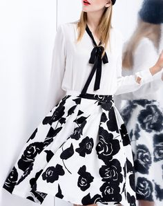 #AdoreWe #VIPme Blouses & Shirts - UMI EASON Women White V Neck Long Sleeve H-line Blouse - AdoreWe.com