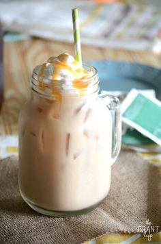 Vanilla Iced Chai Latte - How to make your own iced vanilla chai latte! It's easier then you think and will save you some serious $$$.