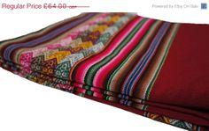 HALF PRICE SALE Peruvian Wool Reversible Ethnic by Ethnografi, £32.00