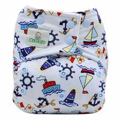Baby Reusable Away At Sea Cloth Diaper (with 2 Micro-fiber Inserts), 20% discount @ PatPat Mom Baby Shopping App