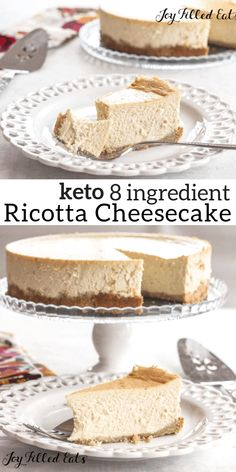 Keto Cheesecake, Light Cheesecake, Low Calorie Cheesecake, Sugar Free Cheesecake, Desserts Keto, Keto Friendly Desserts, Dessert Recipes, Holiday Desserts, Desert Recipes