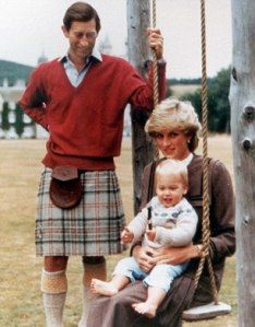Charles and Diana with William 1983 Christmas card
