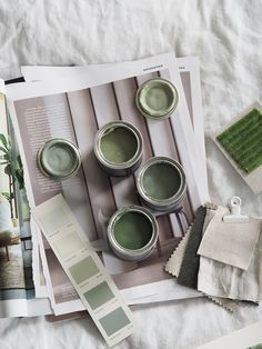 Green paint inspiration - interior mood board - Farrow & Ball paint - Mylands paint - 5 things I'd do differently if I did another home renovation project