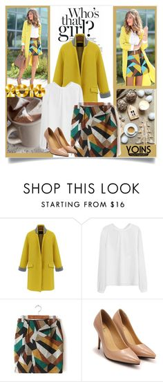 """Yoins skirt"" by mini-kitty ❤ liked on Polyvore featuring мода, yoins и yoinscollection"