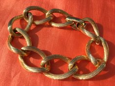 RARE 1980's Christian Dior rope design Bracelet by VINTAGEwithaSMILE on Etsy