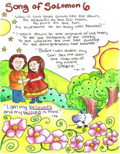 Doodle Through The Bible: Song of Solomon 6  Illustrated Faith Journal entry for Good Morning Girls (GMG) Bible Study, Free printable PDF Coloring page link at the website. Also visit the new FACEBOOK page!