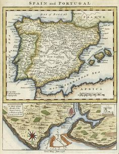 Spain And Portugal Map Neil Gower Mapquest Pinterest Spain - Mapquest portugal