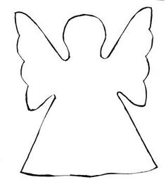 Angel Cutouts Printable | Rasberry angel shape template.. - Rasberry
