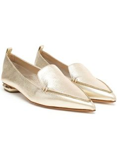 NICHOLAS KIRKWOOD - Metallic Leather Loafers