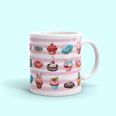 Coffee Mug, Sweet Lover Mug, Candy Lover Mug, Roomate gift, Office Coffee Cup by JulianaDaCostaDesign on Etsy
