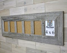 4 pane Barn Wood Z Thin x 3 Picture Frame by LunarCanyon Scrap Wood Projects, Diy Pallet Projects, Barn Wood Picture Frames, Bathroom Design Small, Plant Wall, Old Wood, Wood Shelves, White Wood, Wood Pallets