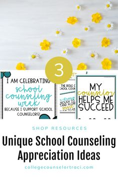 Are you looking for National School Counseling Week ideas? Shop College Counselor Traci for more designs! This teal themed bulletin board set is perfect for celebrating and thanking the counselors in your school! Check out this resource to help you honor your school counselors!  #schoolcounseling #nationalschoolcounselingweek #NSCW #counselorappreciation Counselor Bulletin Boards, College Bulletin Boards, Counselor Office, National School Counseling Week, All Colleges, College Success, Appreciation Gifts, Teal, Printables