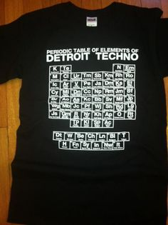 Periodic Table of Detroit Techno Elements -Black