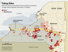 Which New York state communities have passed resolutions on 'fracking'? http://on.wsj.com/1qqdmEC