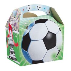 Soccer party boxes and kids party supplies