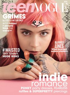 Grimes for Teen Vogue April 2016 cover.