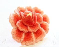 Embroidery peony フェルト刺繍の芍薬 by PieniSieni