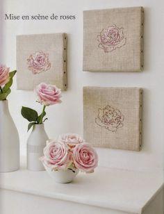 """Милые сердцу штучки: рукоделие, декор и многое другое: Вышивка крестом: """"Три розы и один пион"""""""