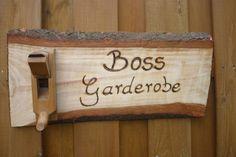 Männergeschenk  Boss ! Garderobe von Holz- Kreativ auf DaWanda.com