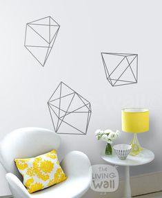 Diamants géométrique, géométrique formes Home Decor Stickers muraux amovibles…