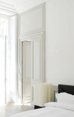 Detail of the master bedroom, Saint Germain des Prés Apartment in Paris by Joseph Dirand  _