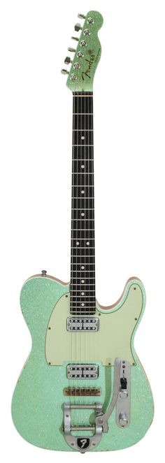 Fender Custom Shop Double TV Jones Telecaster Bigsby Sea Foam Green Metallic ::: PRETTTTTYYYYY!!!!