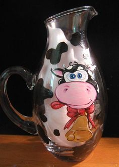 Charmed: Cow Glass Pitcher