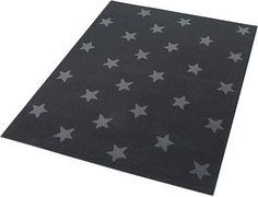 Design Teppich, Hanse Home, »Stars«, Trendmotiv, Sterne, Allover, gewebt, Babyzimmer grau, Junge