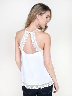 Altar'd State Perrie Lace Tank - Apparel