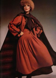 Yves St. Laurent, Russian Collection, 1976.