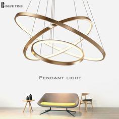 LED Lighting Ceiling Lamp Fixtures Modern Pendant Lights Acrylic Rings Circle #LEDLighting #Modern