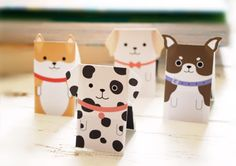 FREE printable paper dogs
