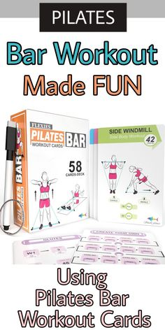 """Never get bored rather tweak your exercise routine with the ease of designing your own schedule, which is accompanied by unique workout """" Recommendation Cards """". Keep a track of your progress using the Dry-Erase marker included in the Box. GET Your Deck TODAY on Amazon as """"Flexies Pilates Workout Cards"""" #ad #resistancebands #toningbarworkout #fitness #resistancetraining Pilates Workout Videos, Fun Workouts, At Home Workouts, Bar Workout At Home, Card Workout, Dry Erase Markers, Total Body, Cards, Schedule"""